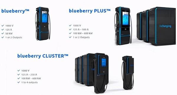 葡萄牙公司推出blueberry超充站,最大支持功率高达600kW